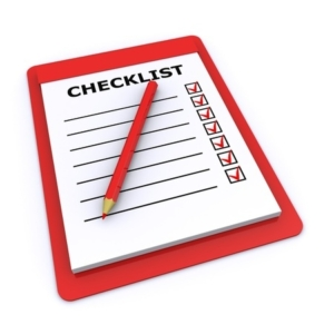 CFA Requirements checklist