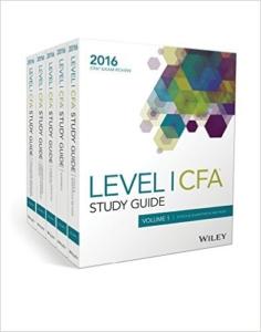 Wiley Level 1 CFA study guide books