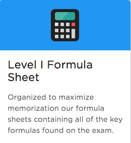 cfa formula sheet