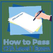 CFA 레벨을 통과하는 방법 1 시험